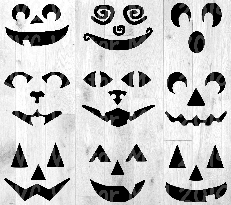 Halloween svg Jack O Lantern pumpkin faces pumpkin svg