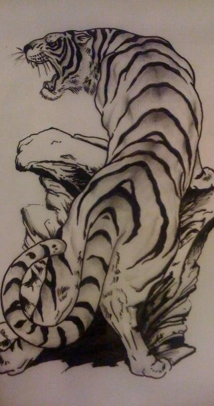 tiger tattoo tiger pinterest drache drachentattoos. Black Bedroom Furniture Sets. Home Design Ideas