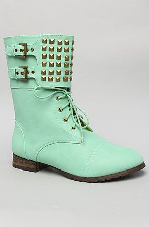*Sole Boutique The Titan Boot in Mint : MissKL.com - Cutting Edge Women's Fashion, Accessories and Shoes. #MISSKL #WINYOURPIN