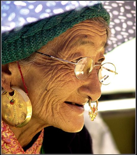 Indian Nose Rings even old ladies look cool with them