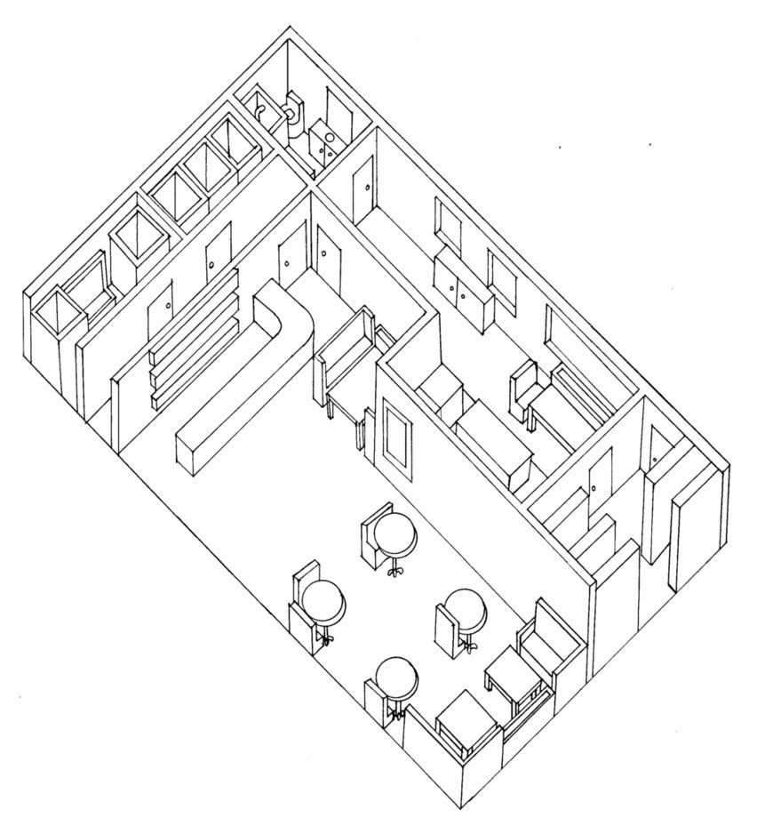 Planometric Drawing of Cafe by TeddyAndAntlers on