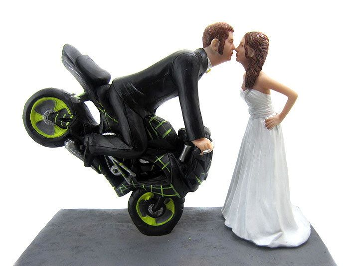 funny motorbike wedding cake topper motorcycle wedding cake toppers1 motorcycle wedding 14558