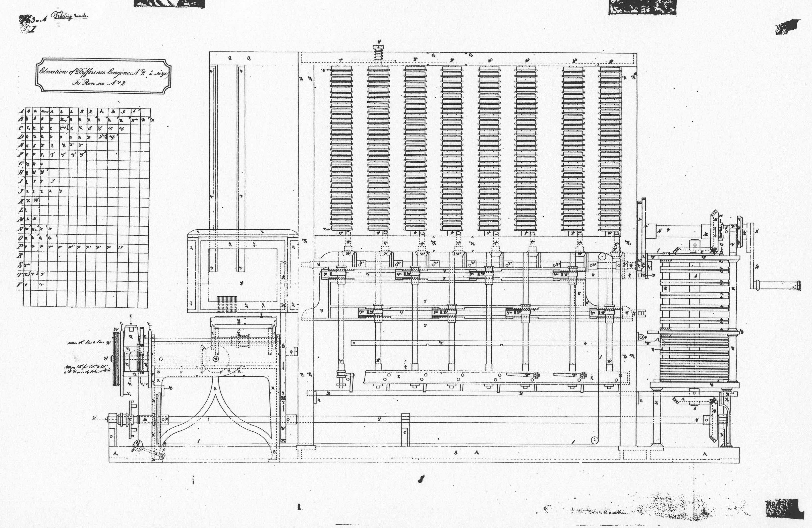 Elevation For Difference Engine No 2