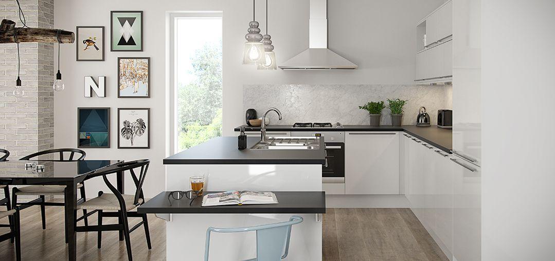 Nova white kitchens modern kitchens kitchens magnet for Kitchen ideas magnet