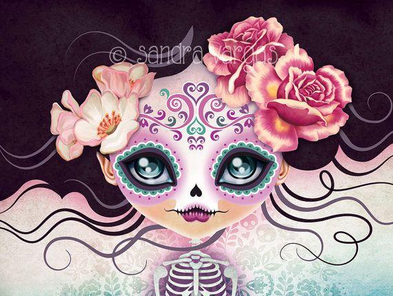 Camila Huesitos Sugar Skull iphone case