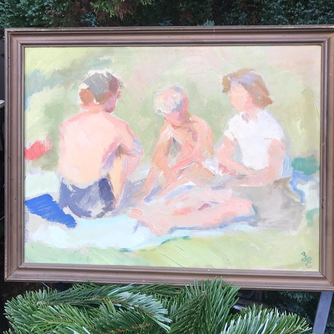 Til Salg Super Smukt Maleri Pa Plade Af Hans Eriksen Pris 1200 Maleri Kunst Art Moderne Modernekunst Gentleman Gentlemen Genbrug In Painting Art