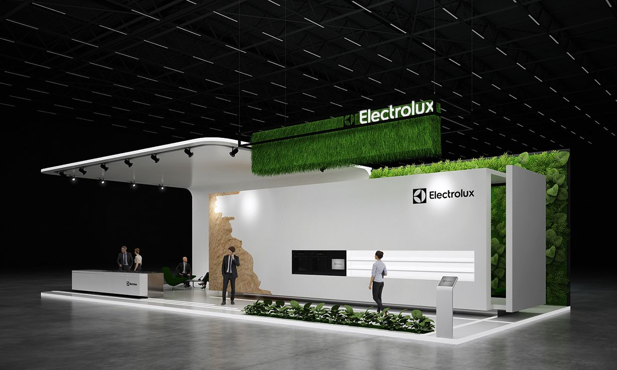 Exhibition Stall On Behance : Electrolux exhibition stand on behance