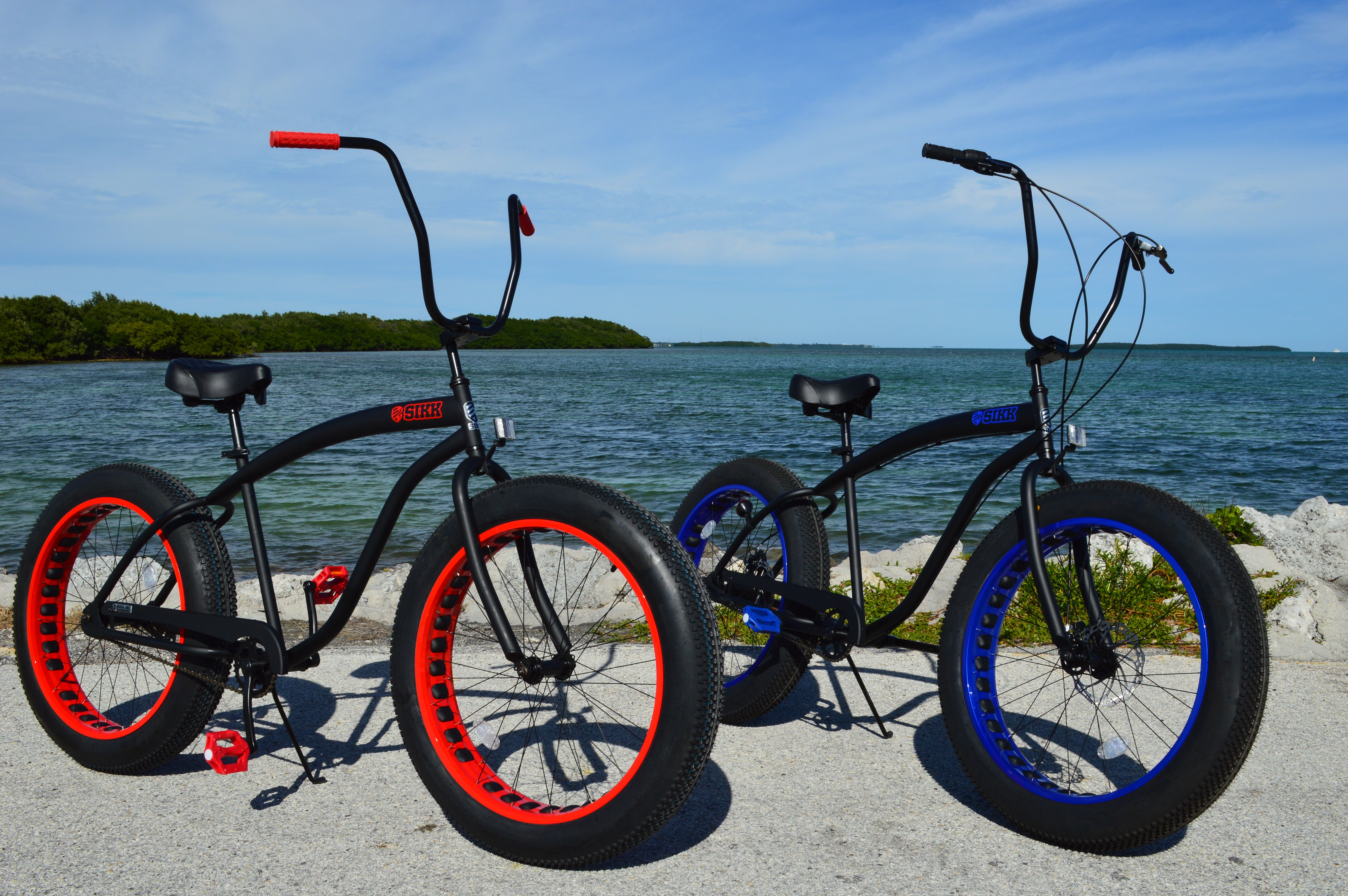 Sikk fat tire beach cruiser custom beach cruiser