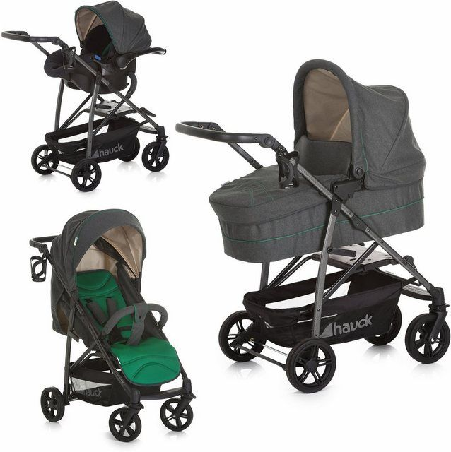 Hauck Rapid 4S Plus Trio Set Travel System Caviar//Emerald