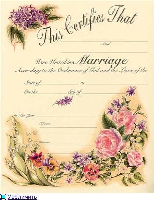 Marriage Certificate For Printing  Marriage Certificates