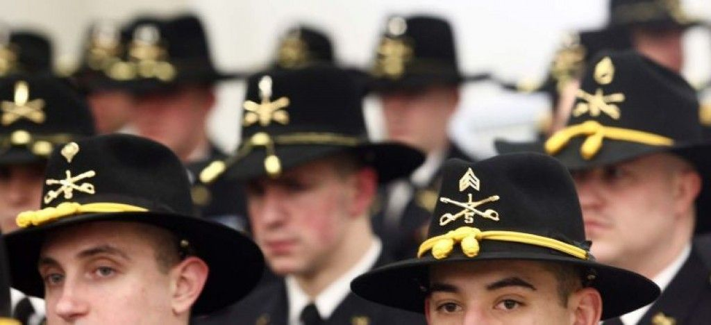 Soldiers wear their iconic Stetson hats as part of their Cavalry uniforms  during the 180-year anniversary celebration of the 1st U.S. Cavalry  Regiment ... 98db3d439c1e
