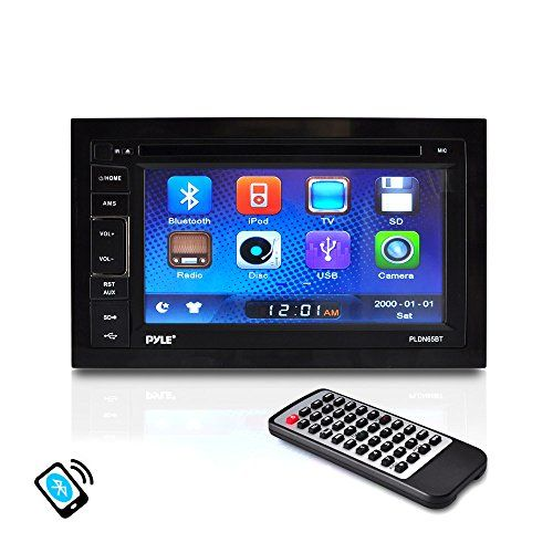 Pyle PLDN65BT 6.5-Inch Video Headunit Receiver Bluetooth Wireless Streaming CD/DVD Player Touch…