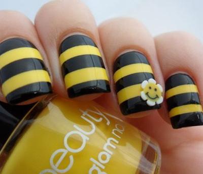Bumble Bee Nails Nails Pinterest Bumble Bee Nails