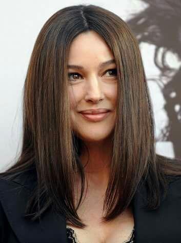 Monica Bellucci Cheveux Naturels Cheveux Couleur De Cheveux Brune
