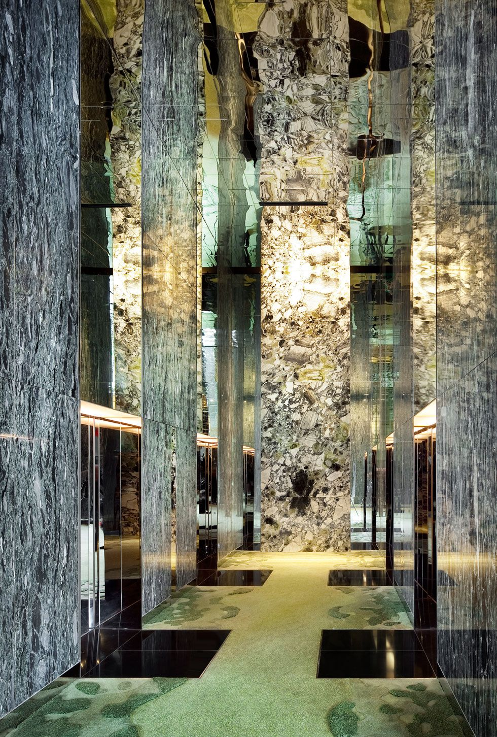 hotel & resort, hallway parkroyal design with high ceiling and