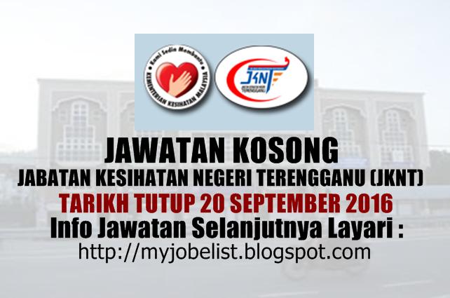 Jawatan Kosong di Jabatan Kesihatan Negeri Terengganu