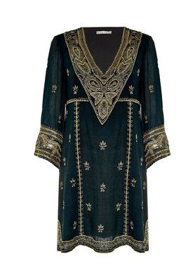 RAY EMBROIDERED LONG SLEEVE DRESS  by Alice + Olivia