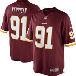 Men's Washington Redskins Ryan Kerrigan Nike Burgundy Team Color Limited  Jersey