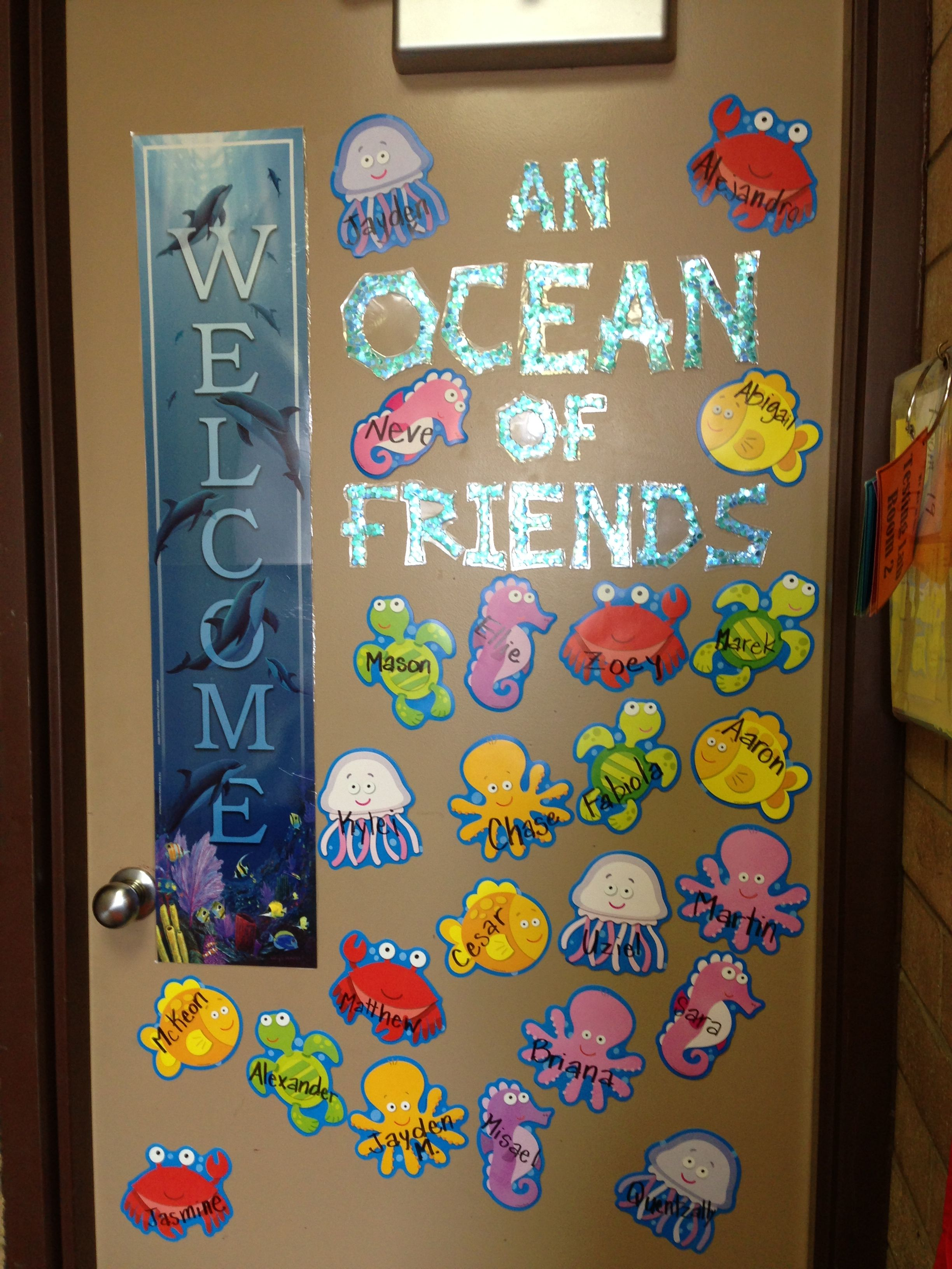 Our Class Door With Images Ocean Theme Classroom