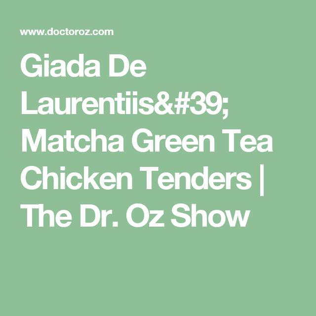Giada De Laurentiis' Matcha Green Tea Chicken Tenders   The
