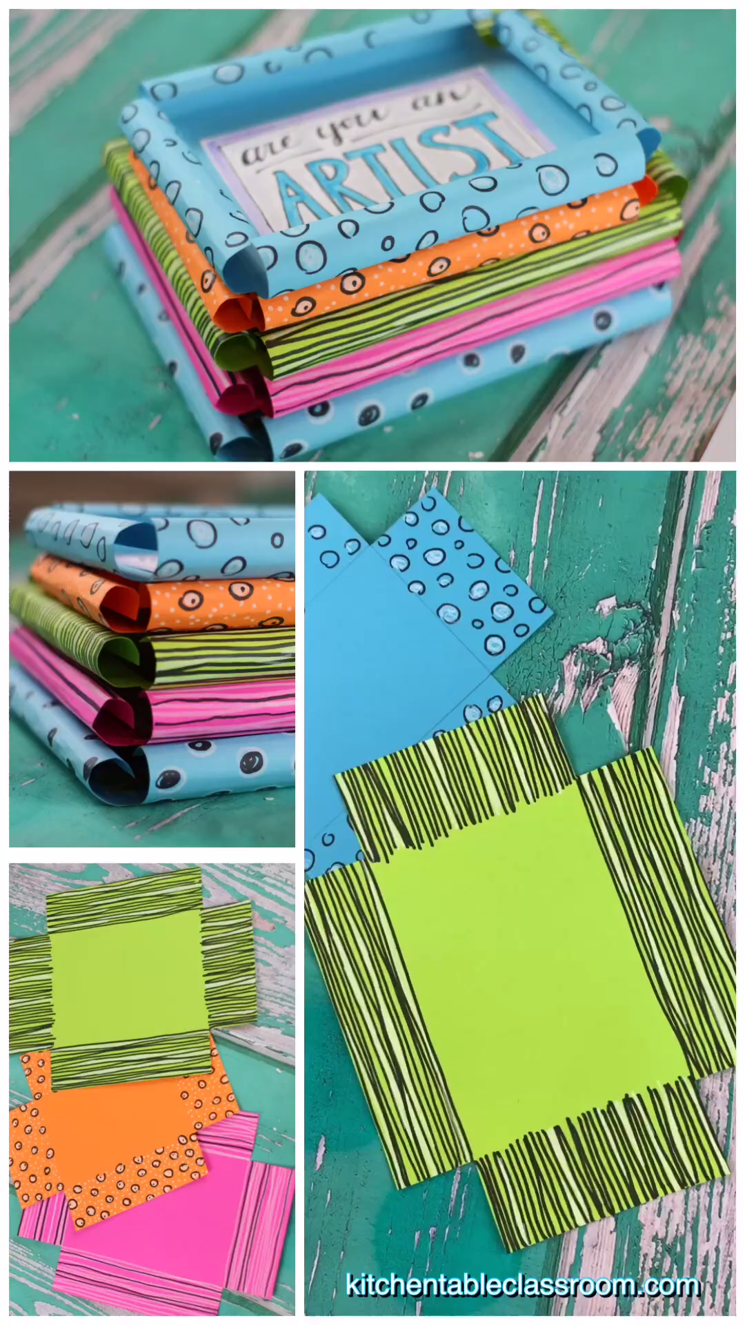 DIY Picture Frame-Super Simple Paper Picture Frames -   18 diy projects For The Home picture frames ideas