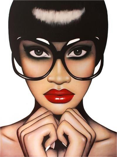 Anja Van Herle Red Lips Fingertips Black Girl Art Art