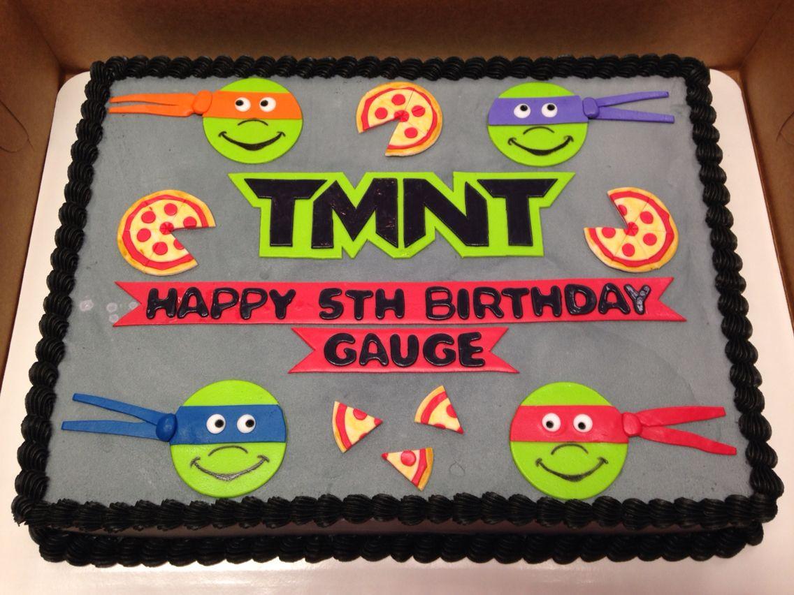 TMNT Sheet Cake | Boy birthday cake, Birthday sheet cakes ...