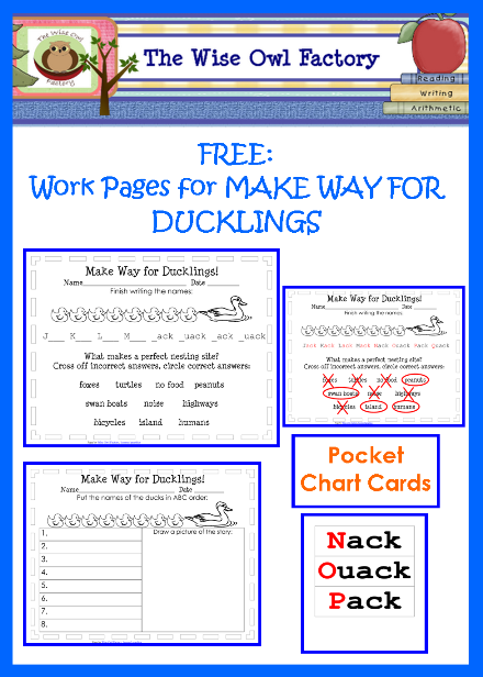Free Printable For Make Way For Ducklings Pond Unit Study