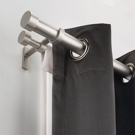 Curtain Rails When Hanging A Curtain Rail Or Rod Or Putting Up Blinds You Double Rod Curtains Curtain Rods Double Curtains