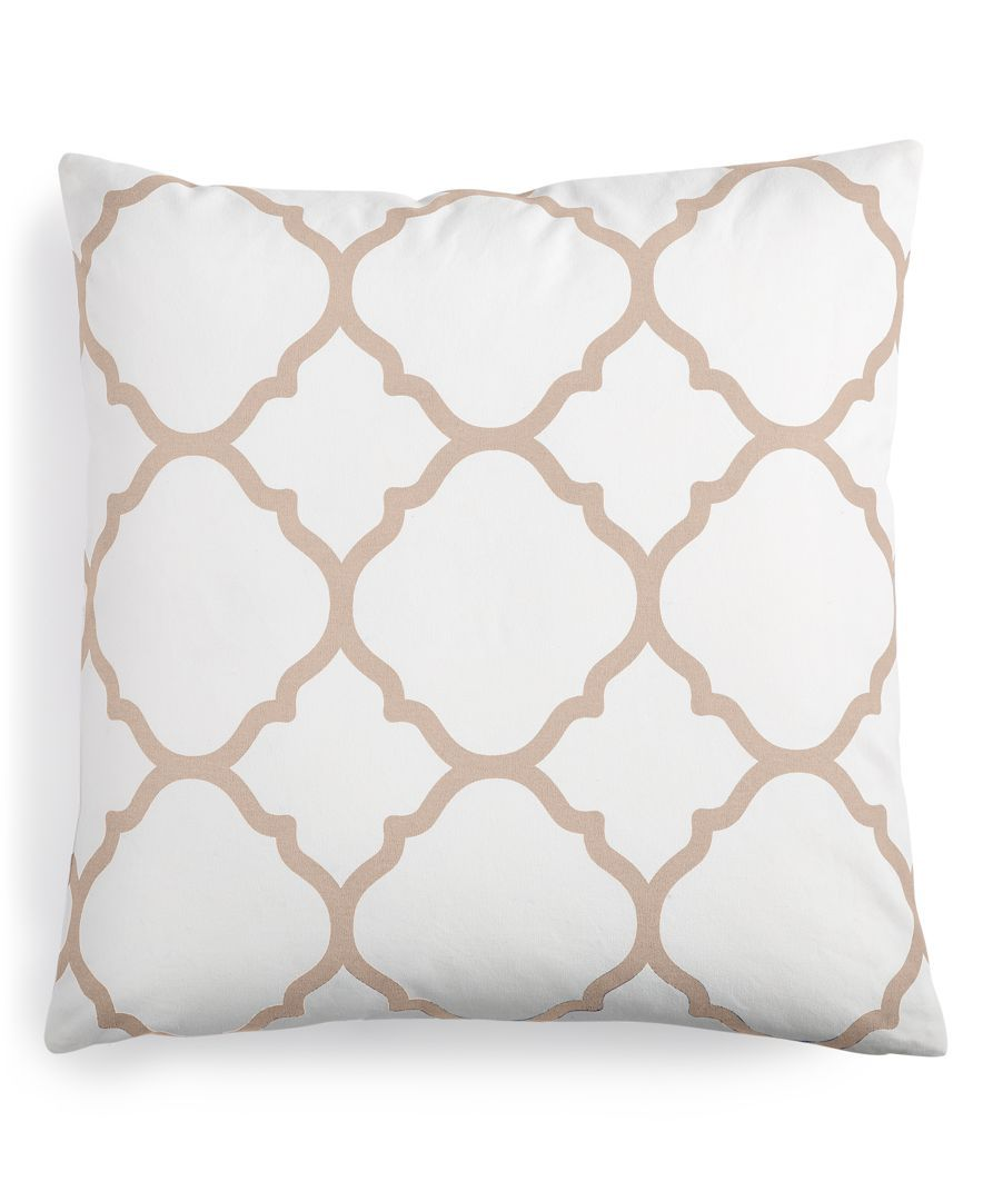 "Macy's Decorative Pillows Classy Charter Club Damask Designs Geometric 18"" Square Decorative Pillow Design Decoration"