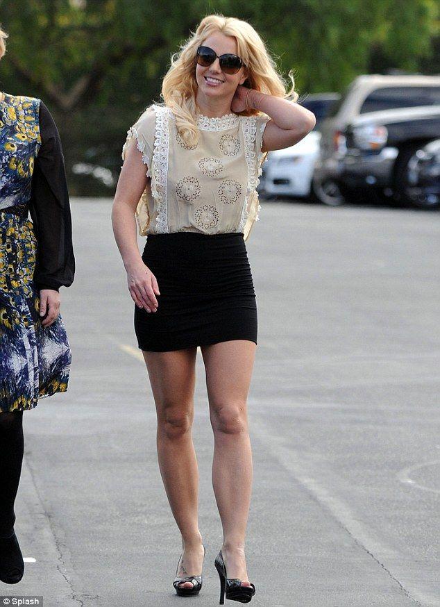 Britney mini photo skirt spear