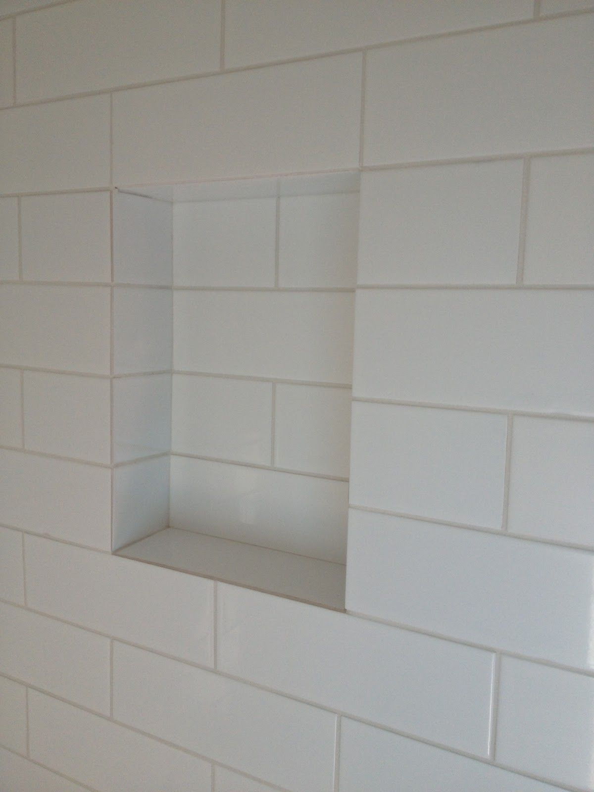 Shower Shelves Built In Shampoo Shelf With Gently Sloped
