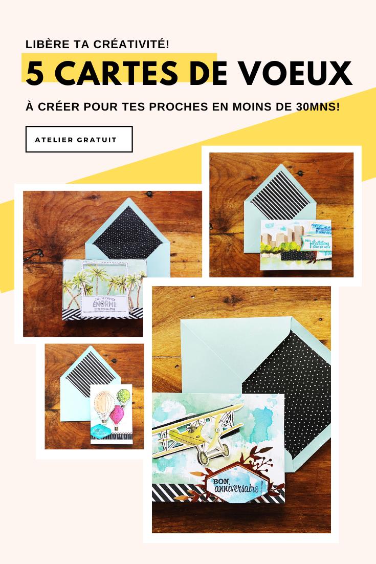 Atelier En Ligne Gratuit Carterie Cartes De Voeux Jolies Cartes Carte De Voeux