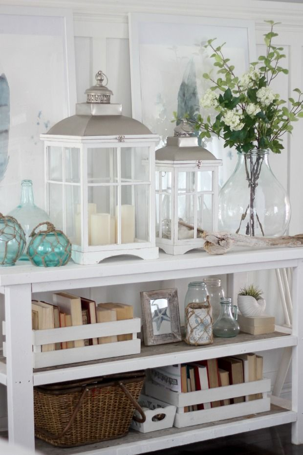 Craftberry Bush | Summer House Tour | http://www.craftberrybush.com. Summer  DecoratingBook Shelf Decorating IdeasDecorating ...