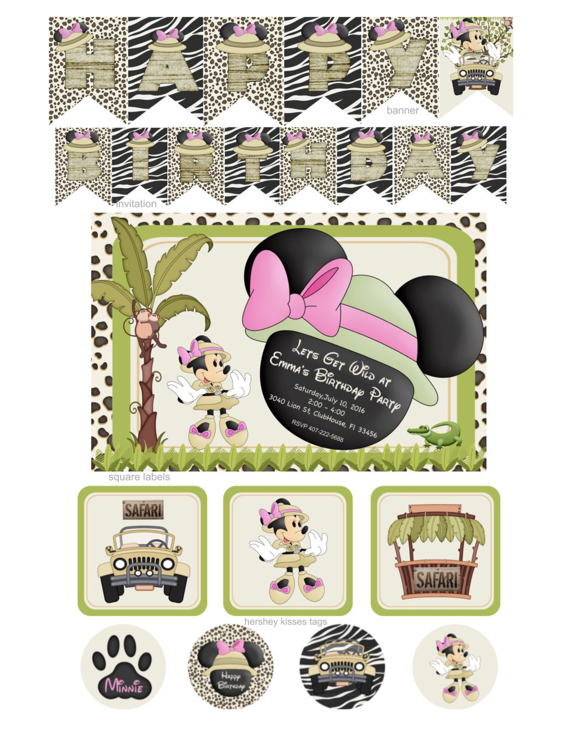 Minnie Safari Party | Minnie Mouse Safari Party | Minnie Mouse ...