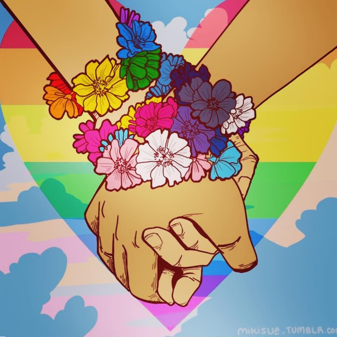 Homosexual rights tumblr flowers
