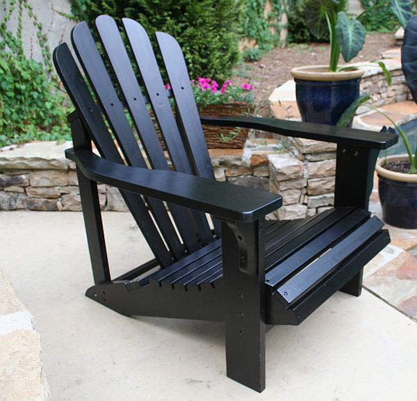 black adirondack chairs | great outdoors | pinterest | backyard