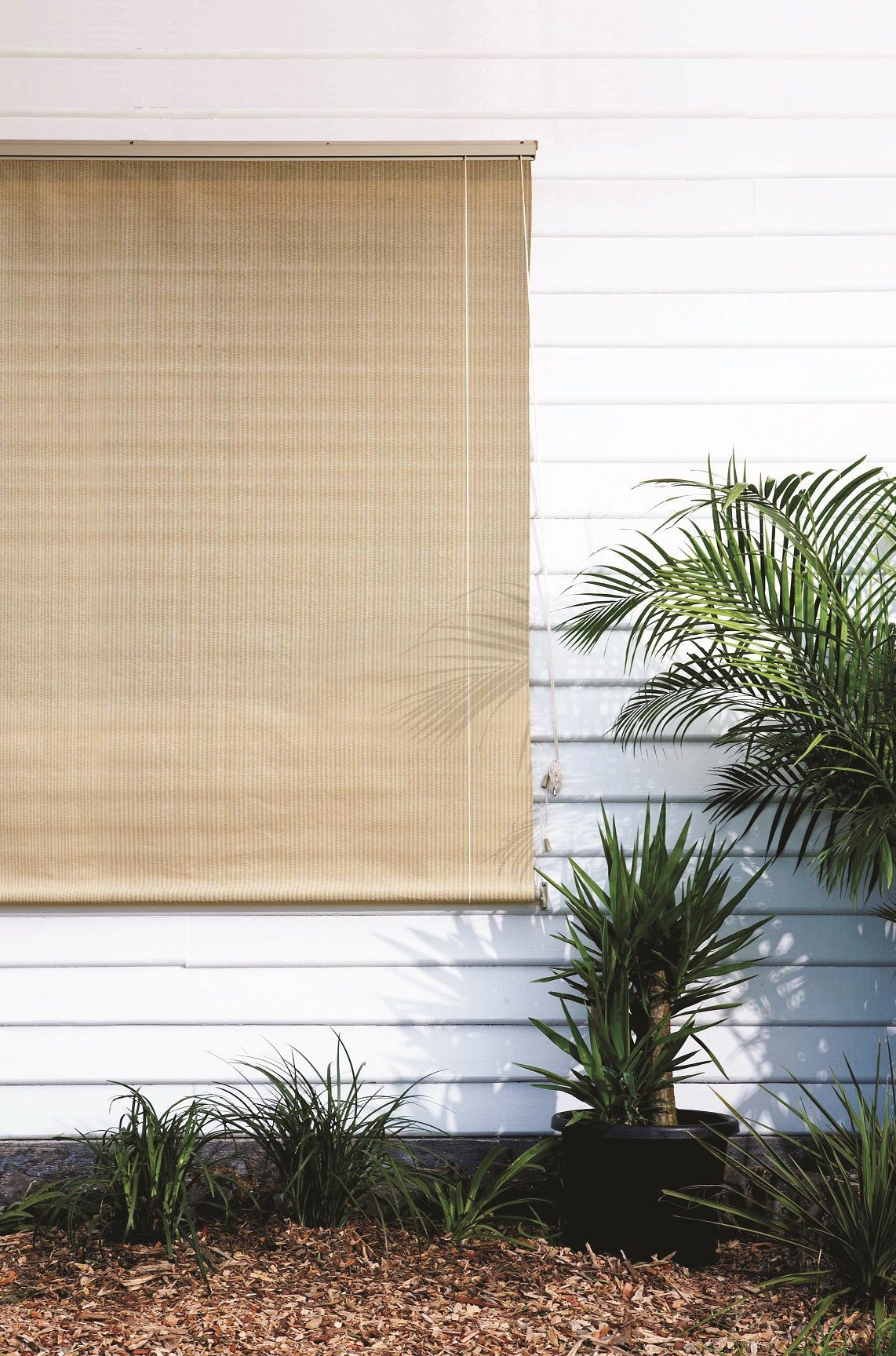 Exterior Roll Up Blinds It S Simple Efficient And Classic These Are From Coolaroo Verti With Images Outdoor Blinds Vertical Window Blinds Sliding Door Blinds