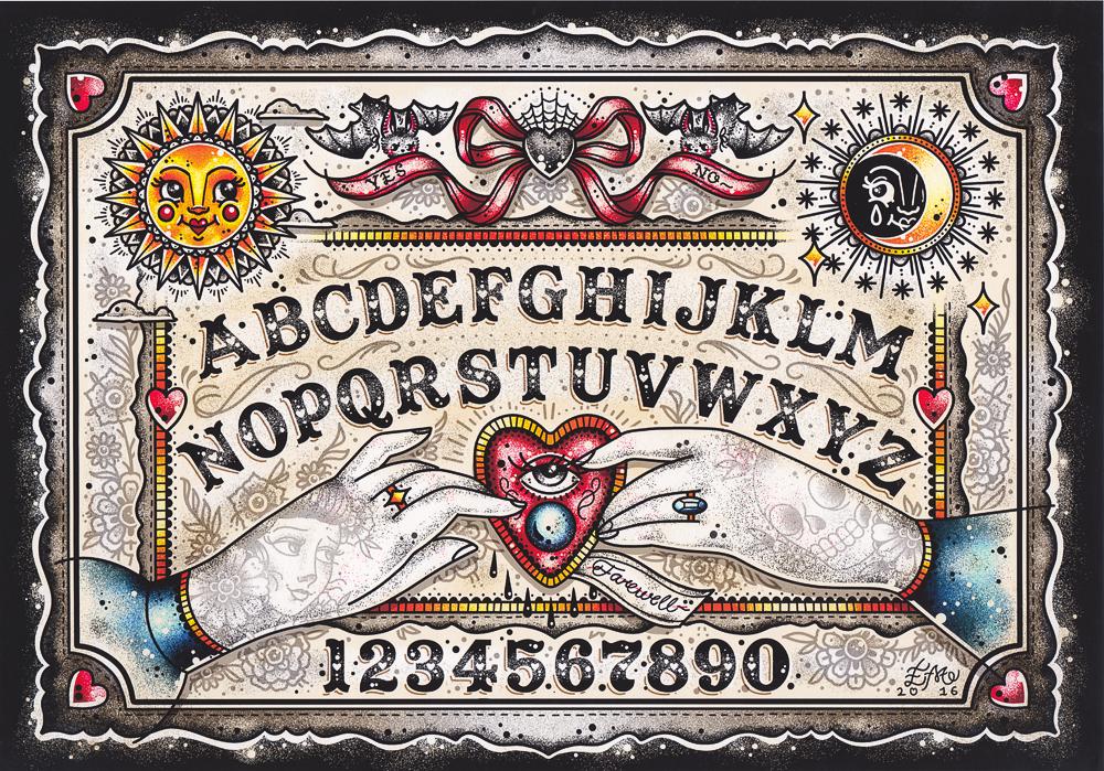 Creep Heart Ouija Board Print Printables Pinterest Ouija