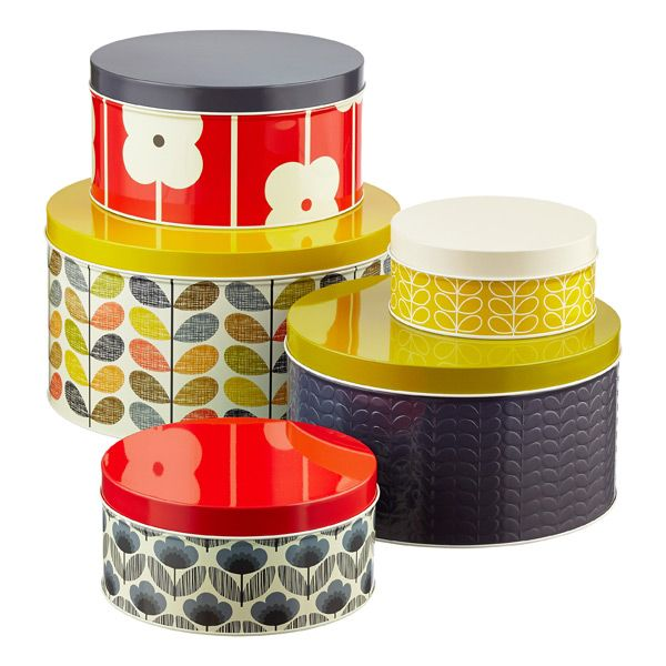 our set of five orla kiely round cake tins will help you. Black Bedroom Furniture Sets. Home Design Ideas