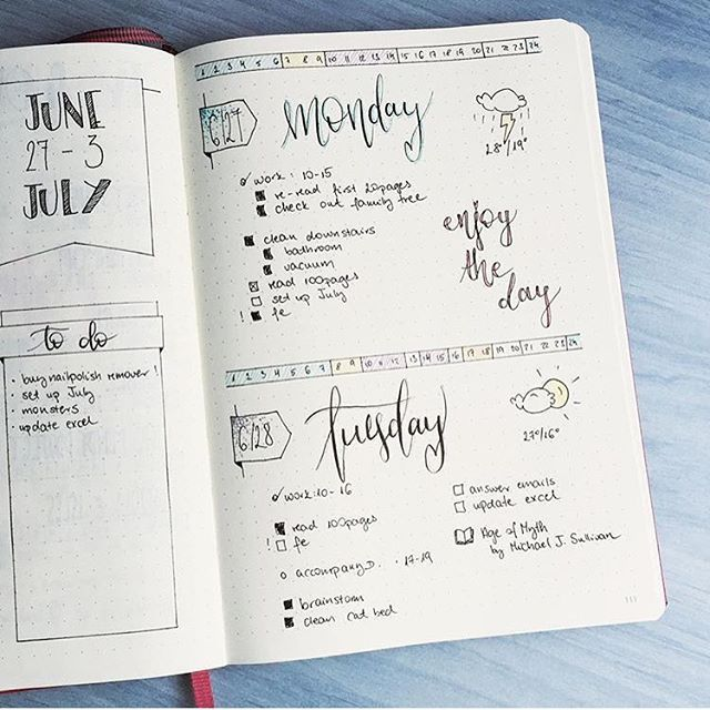 @rozplans I love this layout! So much space to doodle, add and color! Check them out for more! | bullet journal | bullet journaling | bujo | bullet journal junkie | bullet journal junkies | bujo junkie | bujo junkies | planner | planner girl | planning |