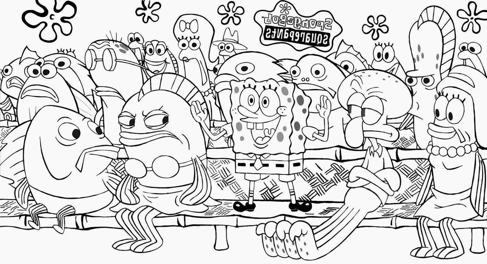 spongebob ausmalbild  news word