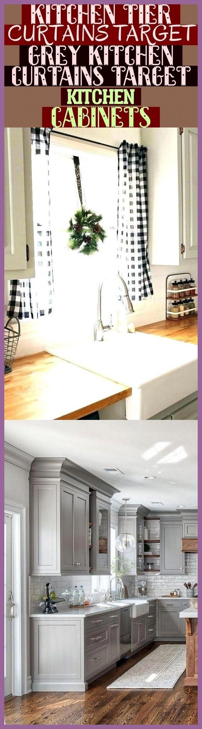 Kitchen Tier Curtains Target Grey Kitchen Curtains Target Kitchen Cabinets Fa Cabinets Curtains In 2020 Cottage Kitchen Cabinets Grey Kitchen Kitchen Curtains