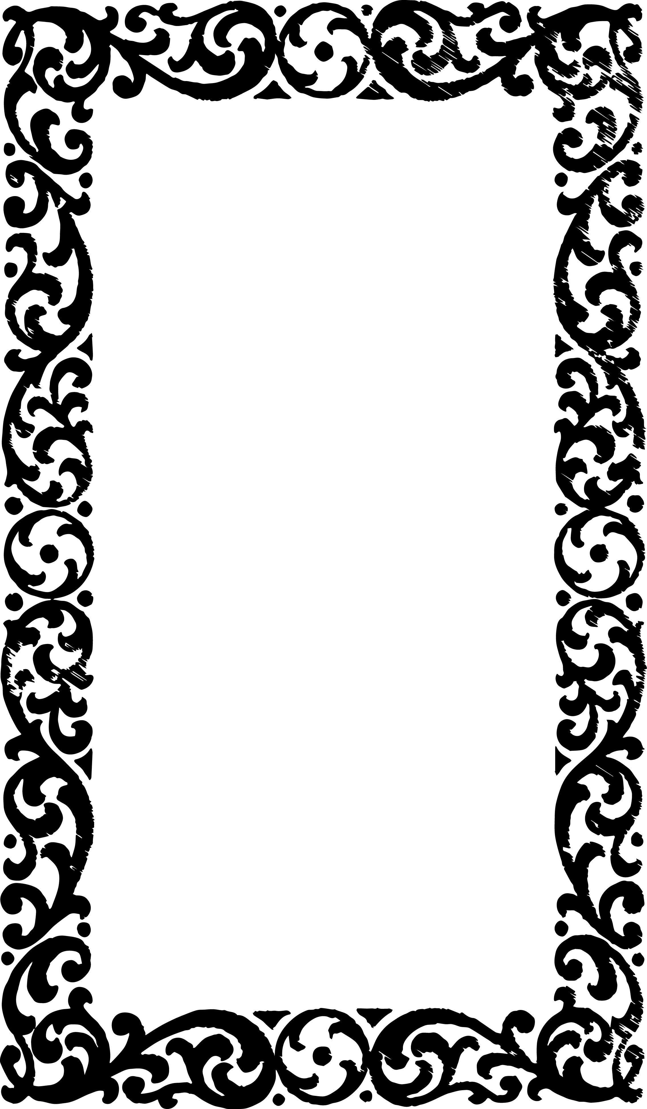 And Frames And Clip Borders Hat Art Black White