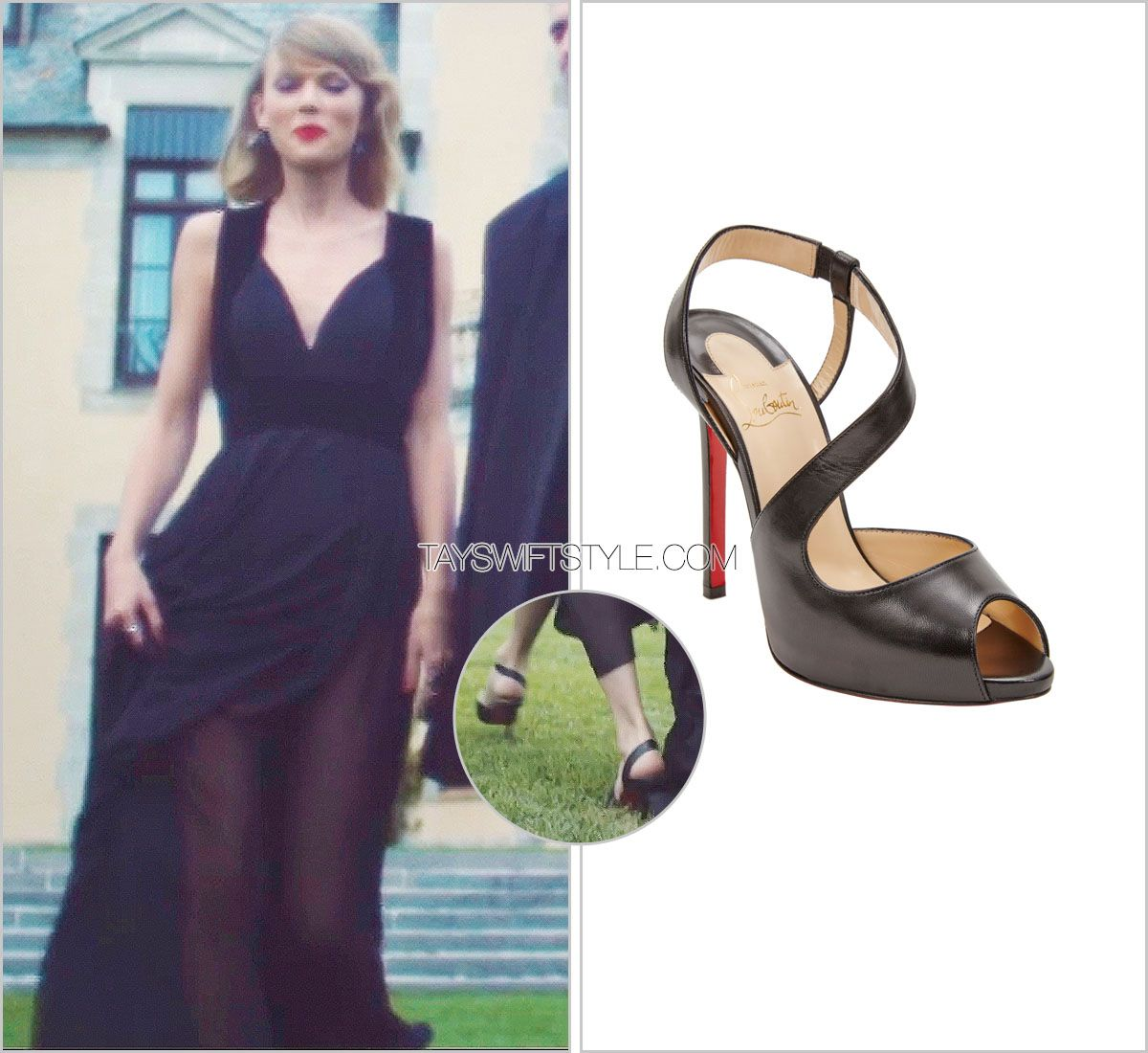 be6772b6954 Blank Space music video Christian Louboutin 'Viveka Pump' - sold out ...