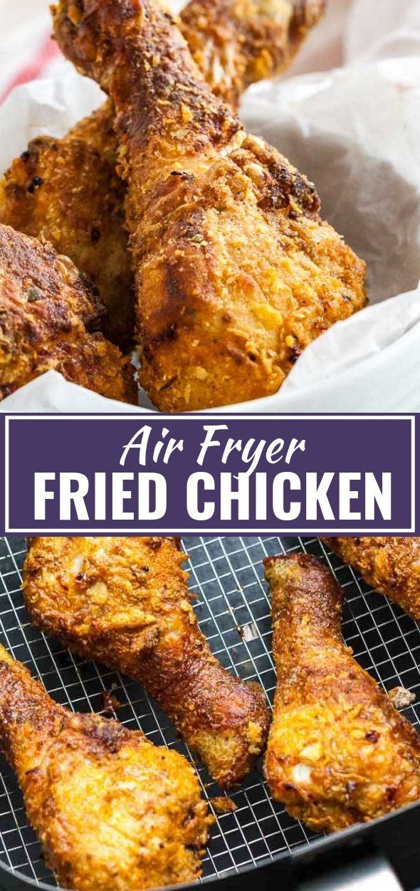 Air Fryer Chicken Drumsticks are juicy and tender on the