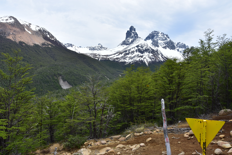 Visión lejana de cerro castillo, Chile