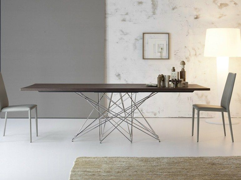 lackierter tisch aus holz octa by bonaldo | design bartoli design, Möbel