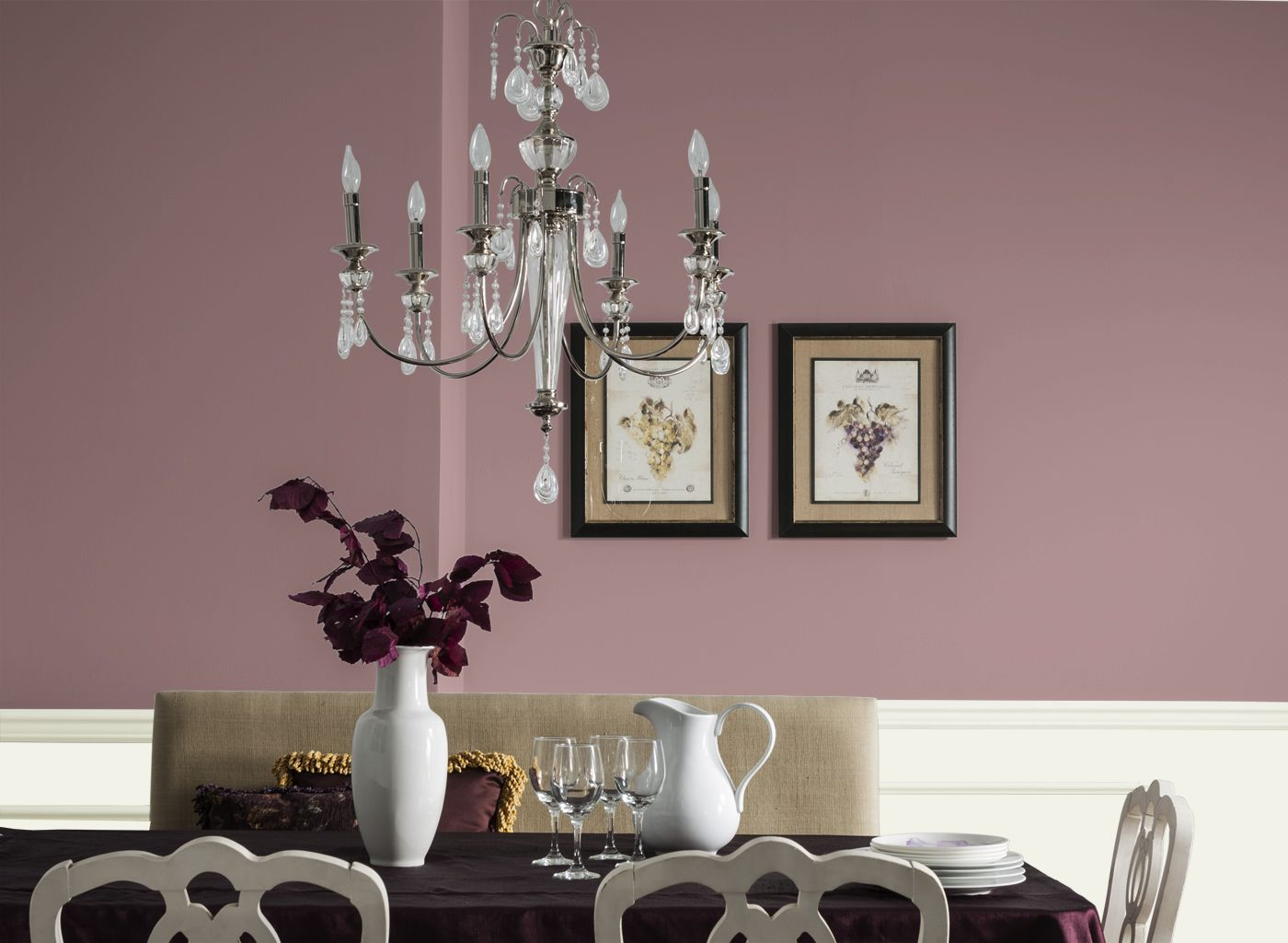 Burgundy And Mauve Rooms Google Search Wall Colors Dining Room Chandelier Modern Wall Dining Table