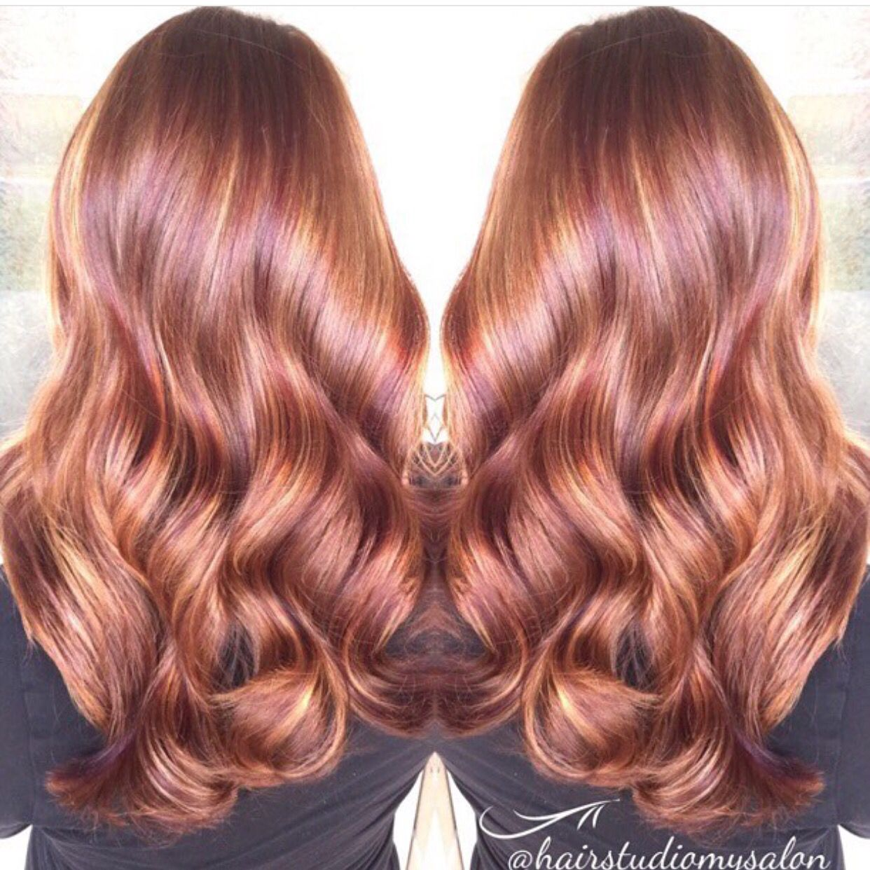 Exquisite Red Hair Copper Hair With Flawless Hollywood Hair Waves